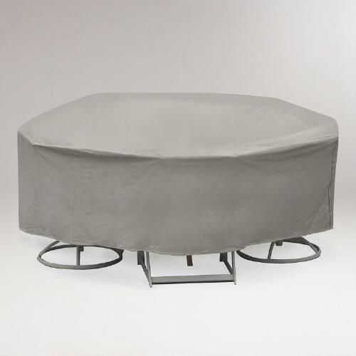 One of my favorite discoveries at WorldMarket.com: Round Outdoor Table Set Cover