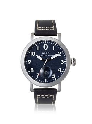 61% OFF AVI-8 Men's 4020-03 Lancaster Bomber Black/Blue Stainless Steel Watch