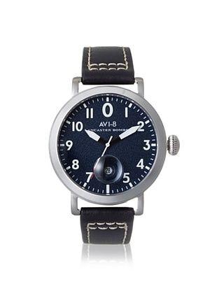 61% OFF AVI-8 Men's 4020-03 Lancaster Bomber Black/Blue Stainless Steel Watch