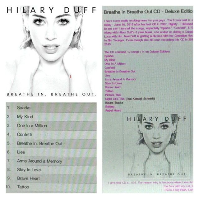 Check out my review on Hilary Duff's CD http://iheartcelebrities519.blogspot.ca/2015/06/breathe-in-breathe-out-cd-deluxe.html