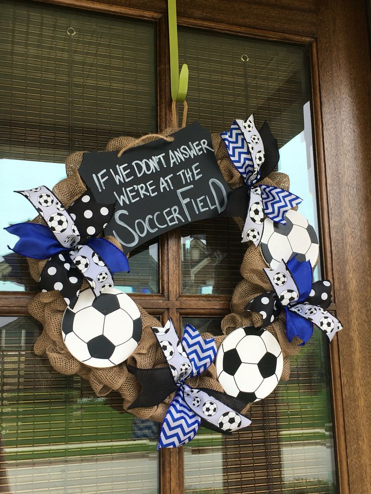 Sports Wreaths - Soccer Wreath @funnygirlwreaths