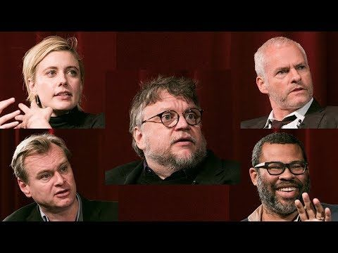Meet the 2018 Nominees for Feature Film - Directors Guillermo del Toro (The Shape of Water), Greta Gerwig (Lady Bird), Martin McDonagh (Three Billboards Outside Ebbing, Missouri), Christopher Nolan (Dunkirk), and Jordan Peele (Get Out).