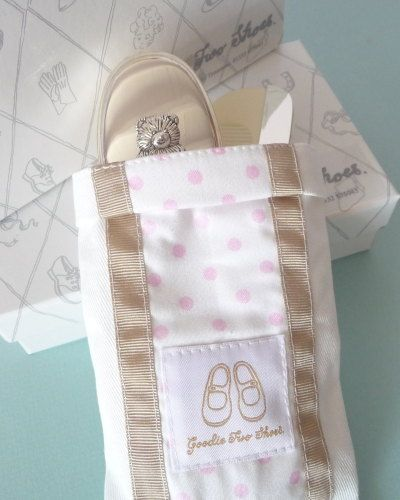 English Trousseau Hair Brush & Comb - Girls Christening Gift. A beautifully presented silver plated baby hair brush and comb in a pink polka dot drawstring bag. A perfect Gift Idea for a  Baby Girl's Christening present. Buy online at Ellie Carlisle Gifts