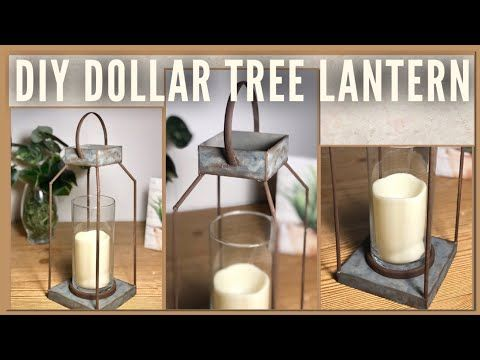 DIY Farmhouse Galvanized Rustic Dollar Tree Lanter…
