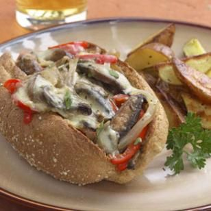 """Portobello """"Philly Cheese Steak"""" Sandwich Recipe"""