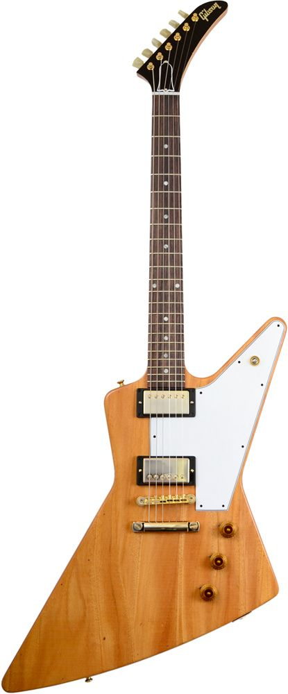 Gibson Custom 1958 MAHOGANY EXPLORER AGED NATURAL - http://www.guitarshop.fr/guitare/guitare_electrique/gibson_custom/produit-158929-1958_mahogany_explorer_aged_natural.html