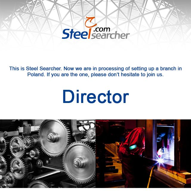 This is Steel Searcher. Now we are in processing of setting up a branch in Poland. If you are the one, please don't hesitate to join us.