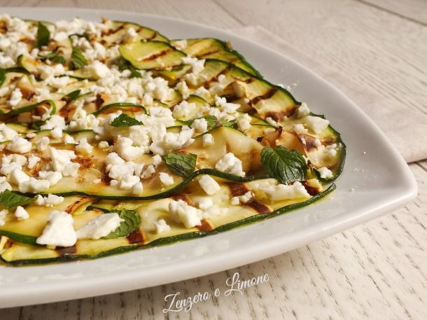 insalata di zucchine grigliate- dettaglio