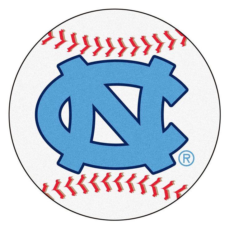 "Unc - Chapel Hill Ncaa ""baseball"" Round Floor Mat (29"") Nc Logo"