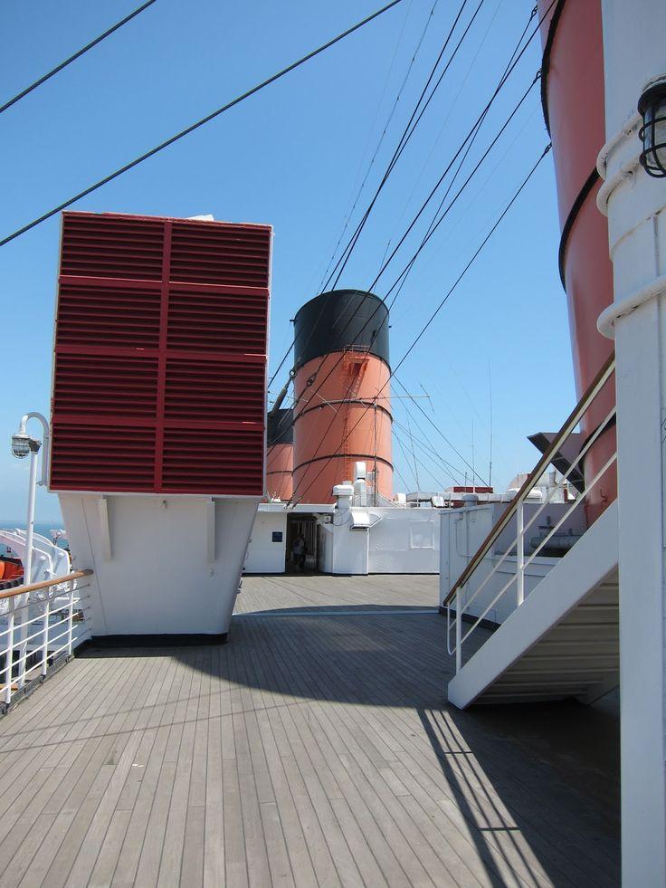 Queen Mary Ship Deck Long Beach California Natalie Notions U S Travels Pinterest