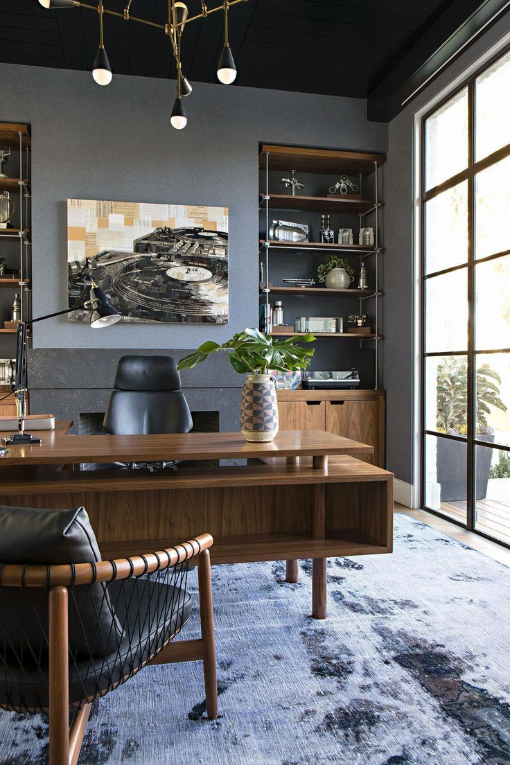 Confidential Office With Chic And Beauty Is Astonishing To Create Interior Design Projects Too Take A Lo In 2020 Home Office Design Cozy Home Office Home Office Decor