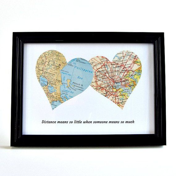 Christmas gift for long-distance friend, girlfriend removal gifts, removal gifts for boyfriend, personalized long-distance card hearts