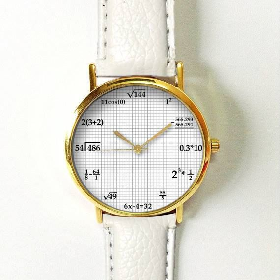 Math Equations in Graphing Paper Watch Vintage Style por FreeForme                                                                                                                                                                                 More