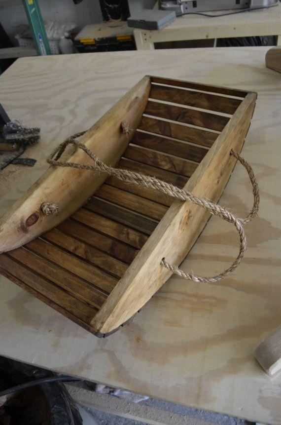 Wooden Garden Trug Harvest Basket by BatesDesignWorks on Etsy