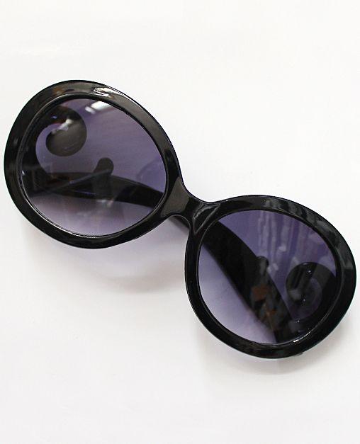 Purple Lenses Black Sleek Sunglasses 6.80