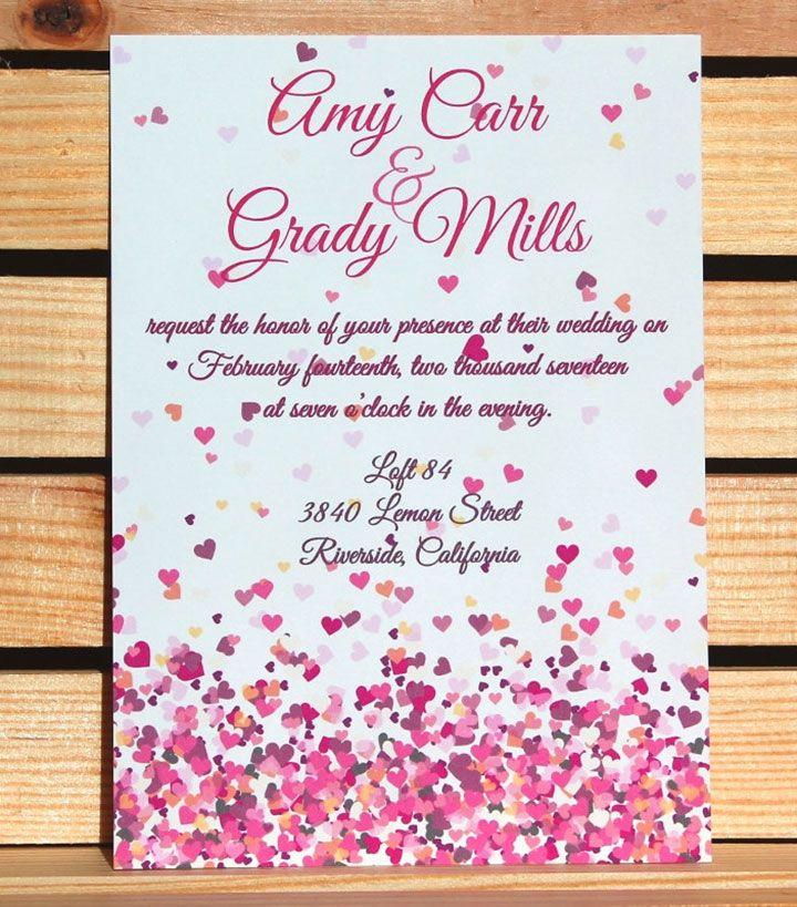 360 best wedding invitations images on pinterest bridal floating multi color heart wedding invitations from citrine designs via etsy stopboris Gallery