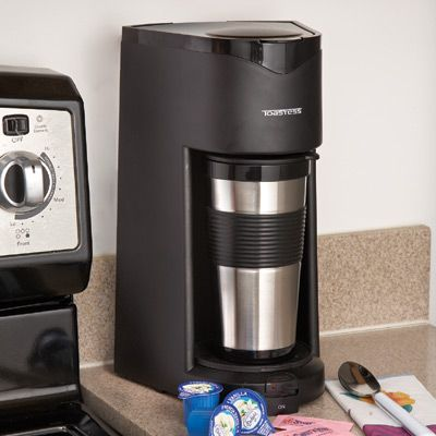 Personal Coffee Maker with Travel Mug -USD 29.95- Personal Coffee Maker brews one cup at a time ...