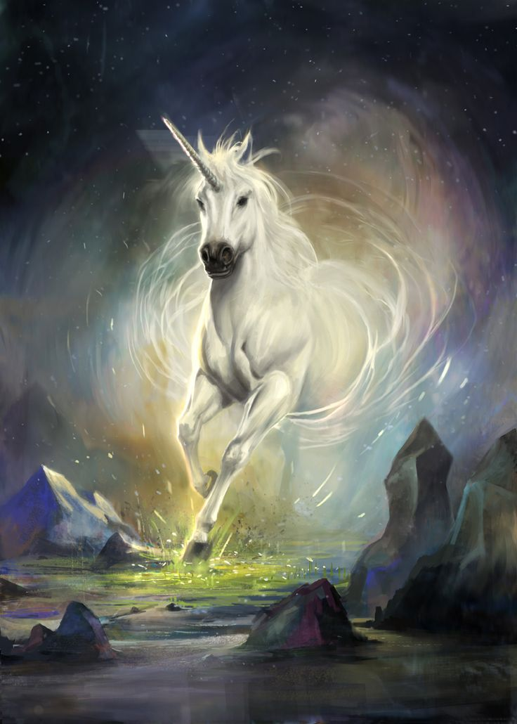 This unicorn is named elusive. She belongs to the reflection fairy, and is impossibly fast.