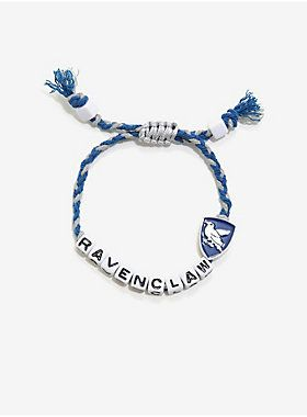 """While you may have love for all of the Hogwarts houses, there's no house like your own. This friendship style bracelet features the Ravenclaw crest and is made out of cords in the Ravenclaw colors.<br><ul><li style=""""list-style-position: inside !important; list-style-type: disc !important"""">Adjustable</li><li style=""""list-style-position: inside !important; list-style-type: disc !important"""">Imported<br></li></ul>"""