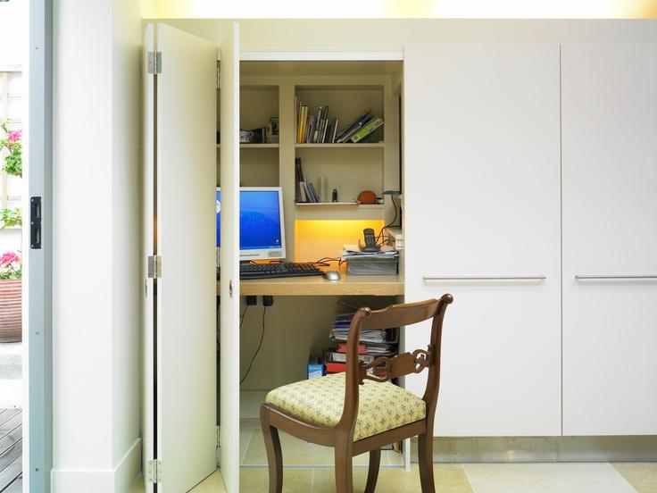 A Home Office Hidden Behind Kitchen Units!