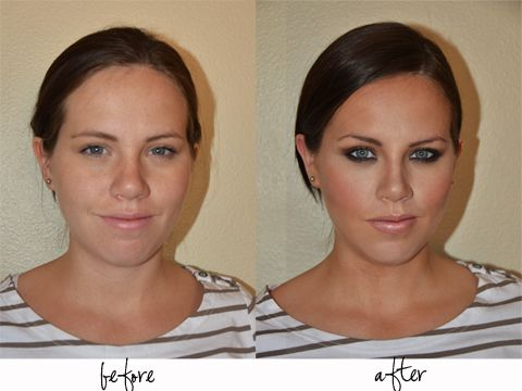 Makeup tips. She doesn't even look like the same girl!