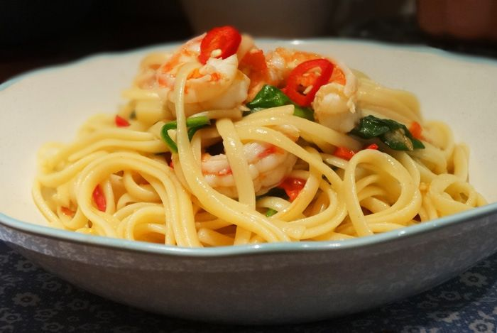 Spicy Chilli King Prawn Linguine