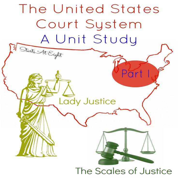 The United States Court System, Lady Justice and the Scales of Justice Unit Study - Part 1