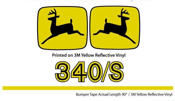 1975 John Deere 340/S Decal Set
