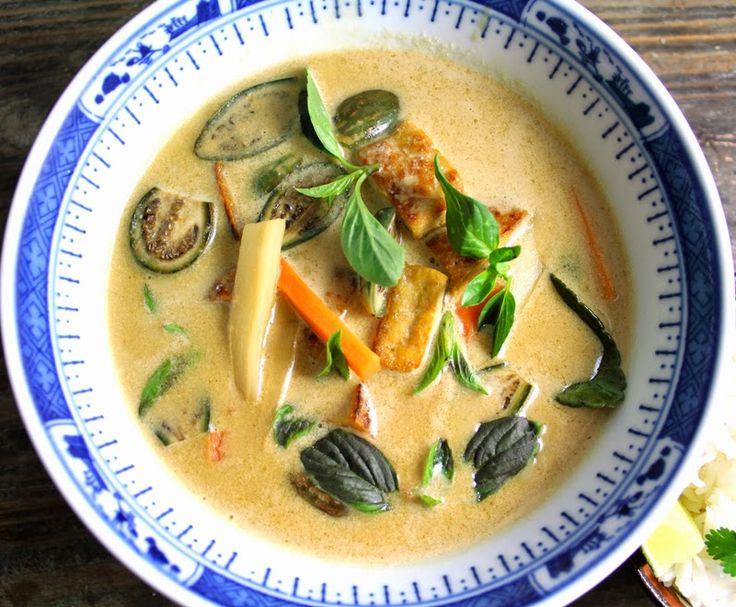 Currysuppe med rotgrønnsaker og tofu