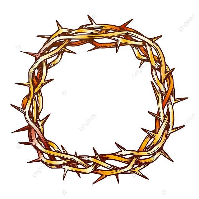 Gambar Mahkota Duri Yesus Kristus Tampilan Atas Vektor Warna Duri Kristus Teratas Png Dan Vektor Dengan Latar Belakang Transparan Untuk Unduh Gratis Kristus Latar Belakang Yesus Kristus