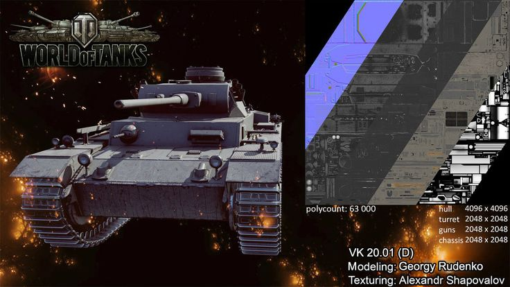 ArtStation - World of Tanks XBox One - German VK 20.01 (D), Georgy Rudenko
