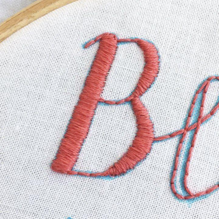 Stickerei für Anfänger: Wie man Buchstaben stickt [+ FREE Template!] – Erstellen
