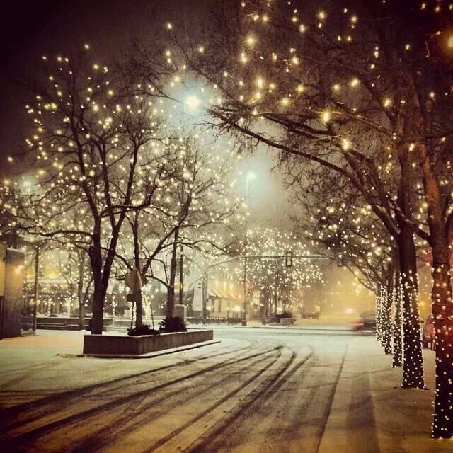 Fort Collins, Colorado at Christmas time..