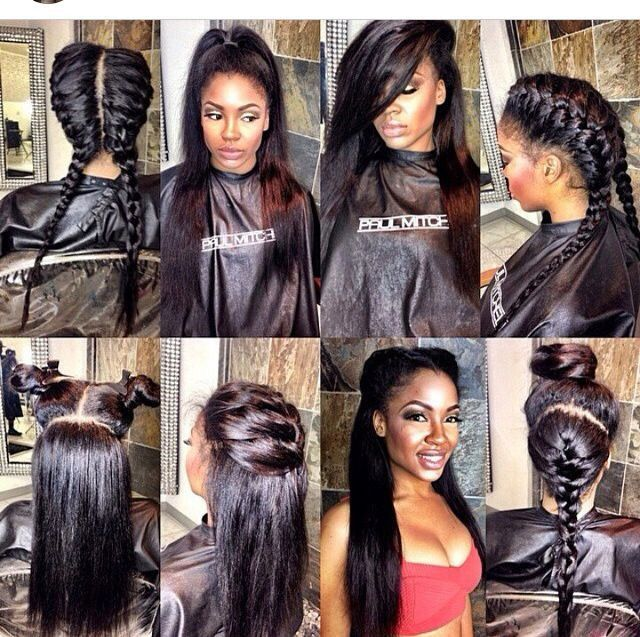 We love Pinterest and sometimes you can find the coolest styles, this post gives 20 vixen sew in weave installs you can try