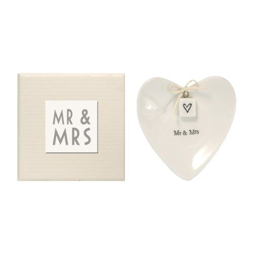 East of India Mr & Mrs Heart-Shaped Ring Dish in Gift Box, Porcelain East Of India http://www.amazon.com/dp/B00864MN2U/ref=cm_sw_r_pi_dp_lU96vb1VJEGHH