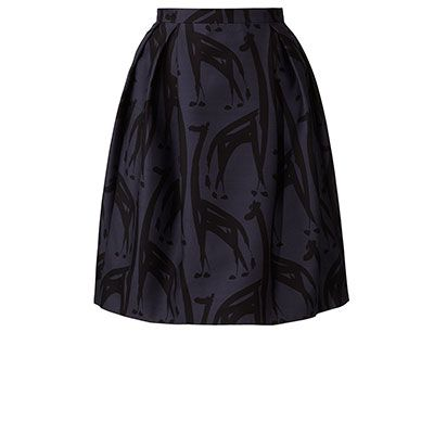 Painterly Giraffe Pleated Skirt // orla