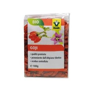 Bacche di Goji Raab 100 G. Questi frutti, orientali contengono elevate percentuali di zinco,  vitamina C, fibre e polisaccaridi che contrastano allergie e patologie degenerative...