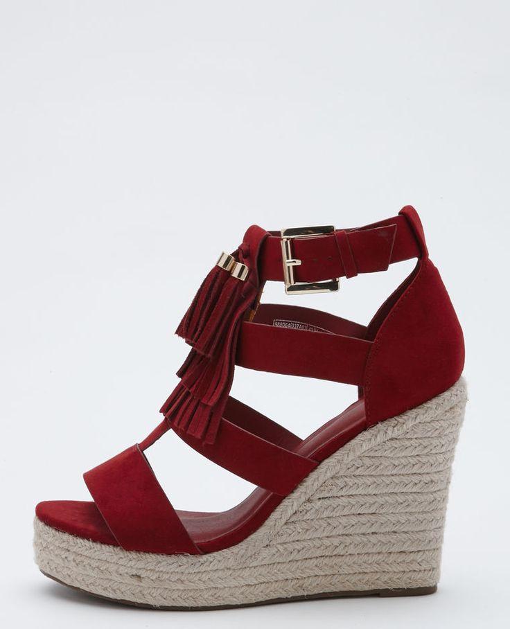 Sandales compensées rouge                                                       …