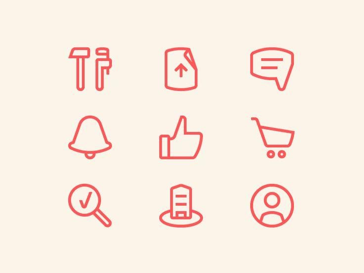 Mosoblgaz icons by Evgeniy Artsebasov