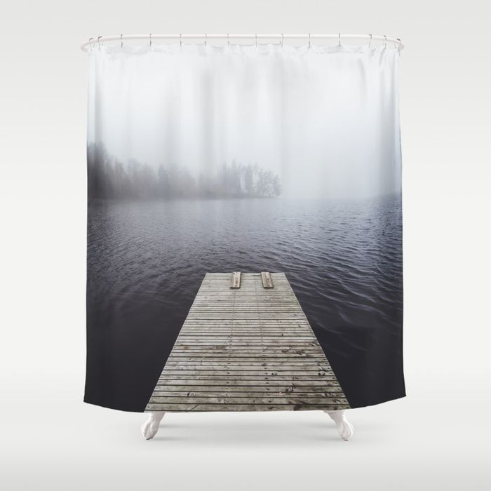 Fading into the mist Shower Curtain by happymelvin