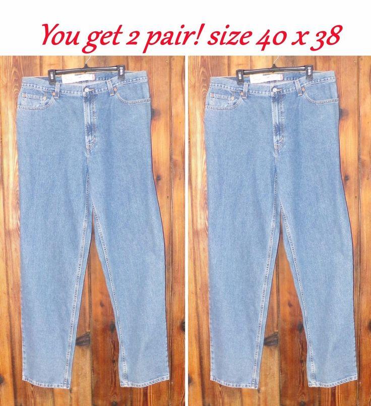 Levi's Men's 560 Denim Jeans Medium Stonewash. Size 40x38 Your get 2 pair!