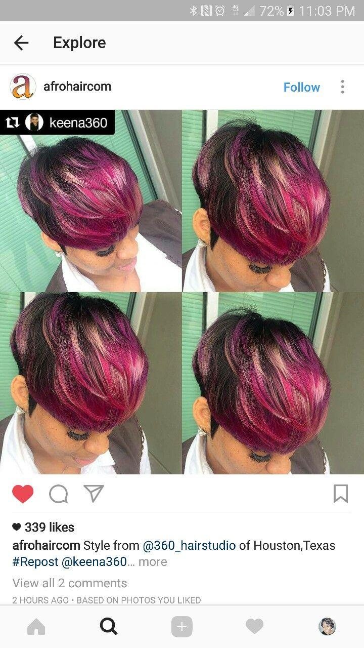best black hair styles images on pinterest hair dos short