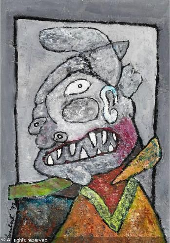 Lucebert (1924-1994) was een Nederlands dichter en schilder. In de jaren zestig legde hij zich vooral toe op de beeldende kunst, die destijds 'figuratief-expressionistisch' genoemd werd. Zijn schilderwerk, dat vooral in het begin sterk beïnvloed was door Cobra, geeft blijk van een vrij pessimistisch wereldbeeld.-1977