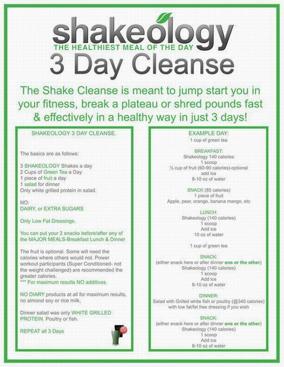 If you are interested in Shakeology, please visit my website. I am a independent Beachbody coach: www.shakeology.com/iib4  Previous pinner: Shakeology 3 Day Cleanse....time to do this again! I need to break my plateau!