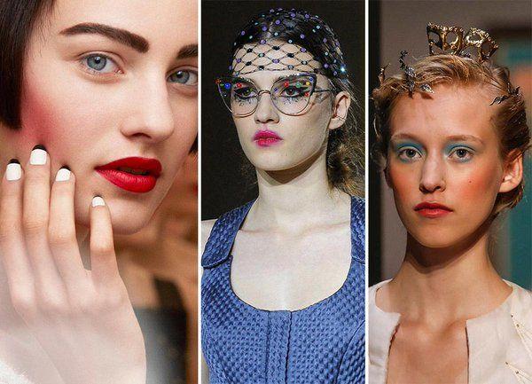 Основные косметические тренды осеннего сезона 2015  -много много румяна; -абсолютно розовый; -блеск света на лице;