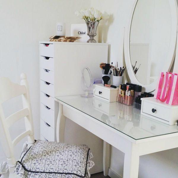 Make up tafel home pinterest slaapkamer idee n en voor het huis for Moderne slaapkamer catalogus