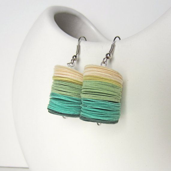 Paper Disc Earrings by Dorisse of Paper Statement