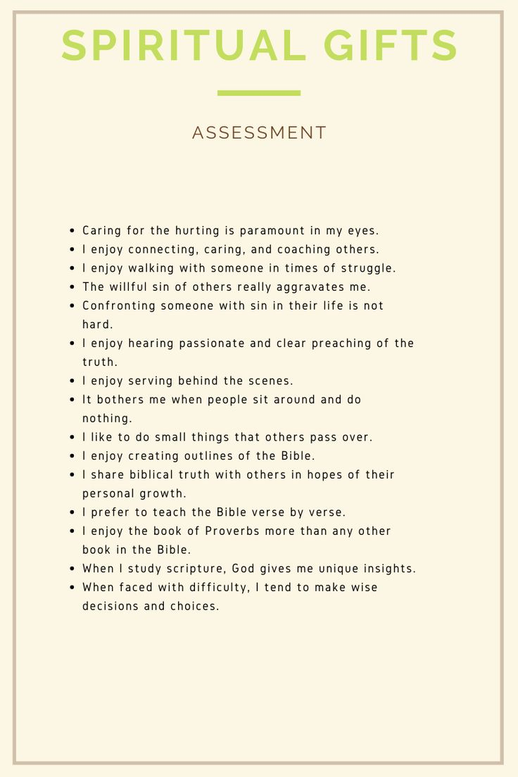 Have you taken a spiritual gifts assessment spiritual