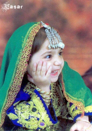 Pakhtun Cute Girl in traditional dress by AFGHANISTAN PASHTUNISTAN, Adorable:-)