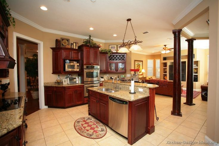 pictures of kitchen designs 90 best cherry color kitchens images on 4210